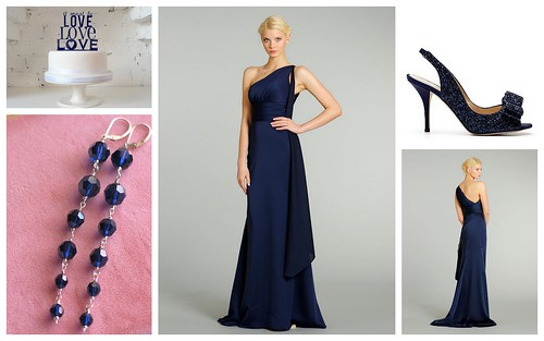 {Wedding Color Trend: Navy} Bridesmaids' Style by Nina Renee Designs