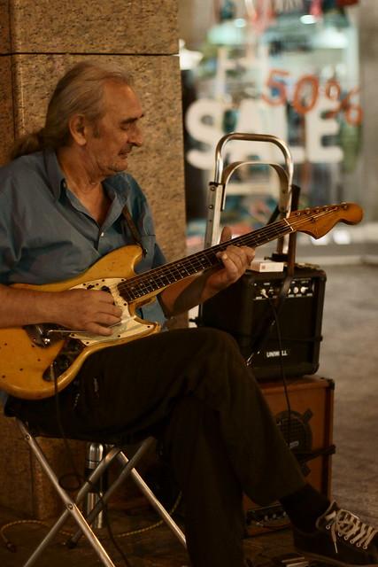 Bluesman on the street. Athens, Aug 2012. 07-020c