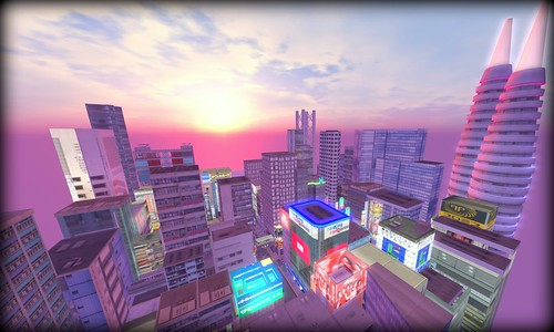 Virtual Asia City Skyline