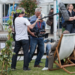 Camera crew in the Gardens | A camera crew does a bit of filming in the Gardens