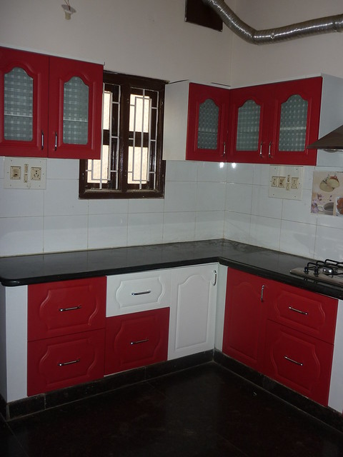 Image Result For Red Kitchen White