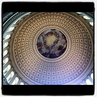 US Capitol building dome ceiling