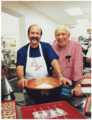 Michael Rogak, a third-generation confectioner, and his father, Martin, of JoMart Chocolates.