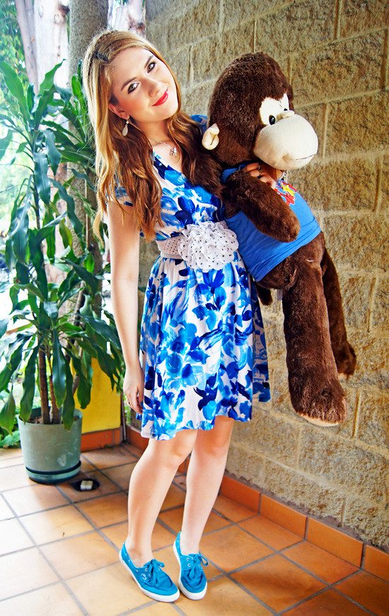 Floral dress and Monkey by The Joy of Fashion (10)