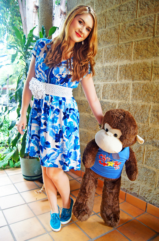 Floral dress and Monkey by The Joy of Fashion (1)