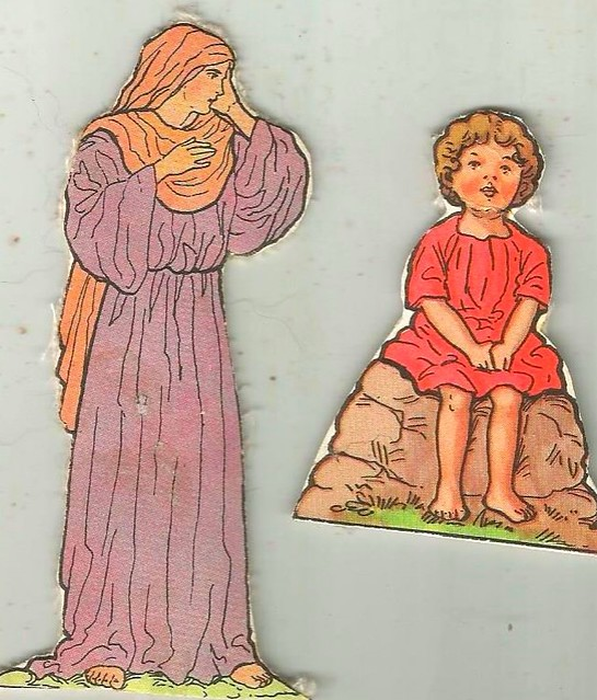 Vintage religious cut-outs