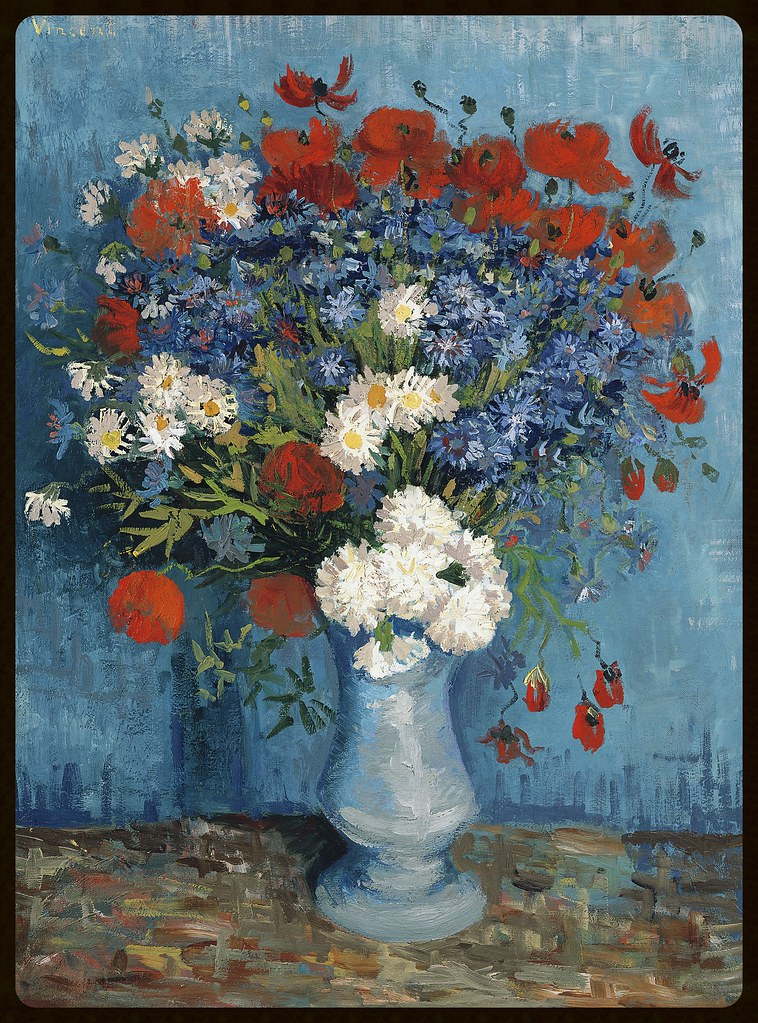 Vincent van Gogh Dutch 1853–1890 Vase with Cornflowers and Poppies Paris, Summer 1887 oil on canvas 80.0 x 67.0 cm Netherlands, Triton Foundation ©
