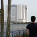 Matt in front of the Vehicle Assembly Building