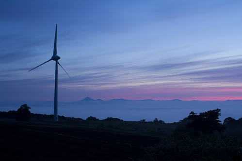 Wind-generated electricity of the NUNOBIKI highland