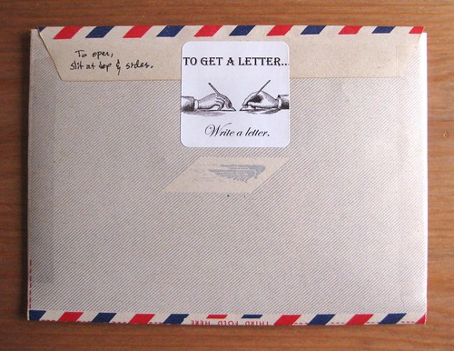 Wessel envo-letter airmail aerogramme, back