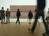 Stripy Gerhard Richter, stripy dress, hip crowd