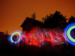 Light Painting - In the old grounds of Leybuorne Grange