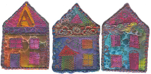 22 - Three Wee Fabric Houses