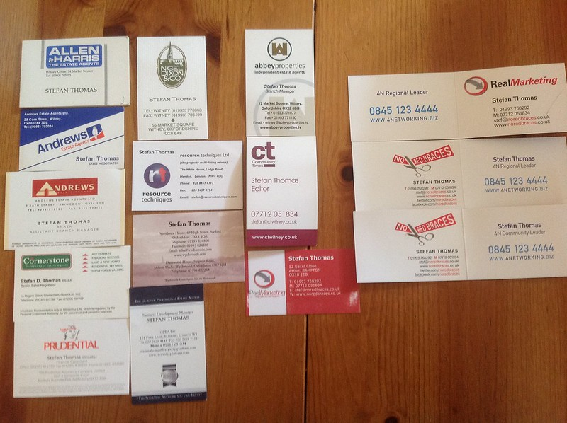 1988-present. A career in business cards