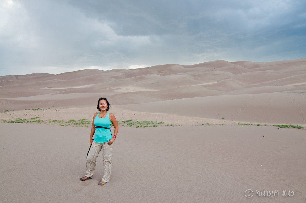 Standing on the great sand dunes