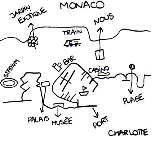 Monaco, drawn by Charlotte