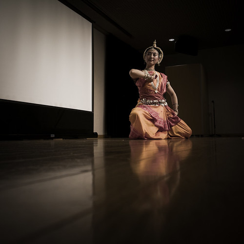 Classical Indian Odissi Dance Dip Pose
