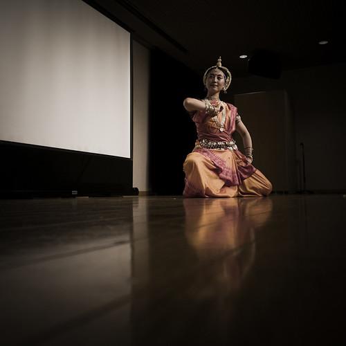 Classical Indian Odissi Dance Dip Pose