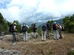 Vers Punta Maggiola : la troupe
