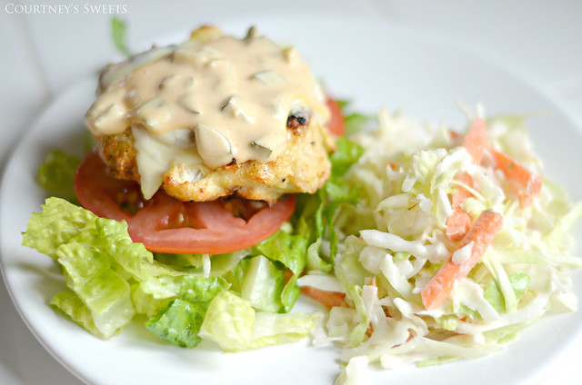 Chicken Burger with Coleslaw