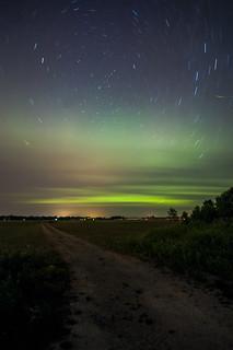 Startrails, Aurora and Firefly