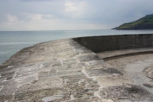 Seawall at Lyme Regis