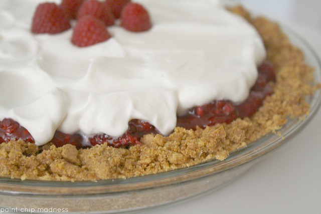 fresh raspberry icebox pie (paint chip madness)