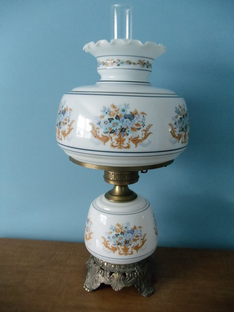 Antique Matching Hurricane Lamps | Flickr - Photo Sharing!