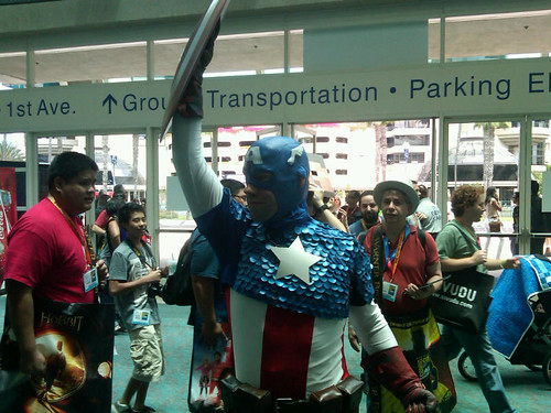 Comic-Con Captain America hall