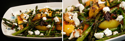 Grilled Asparagus and Peach Salad, photo by Lady Smokey