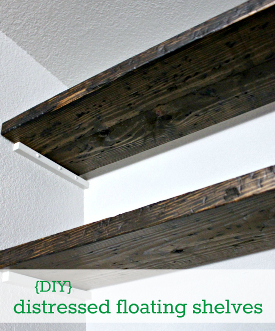 DIY} How to Fudge Reclaimed Floating Shelves