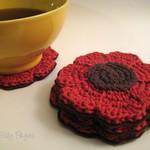 Pattern Crochet Flower Coaster