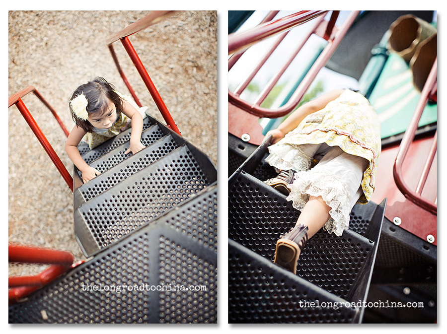 Playground steps collage