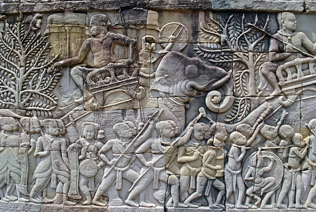Angkor wall carving flickr photo sharing