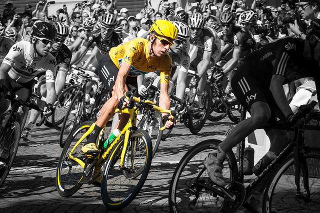 Bradley Wiggins in Yellow - 2012 Tour de France