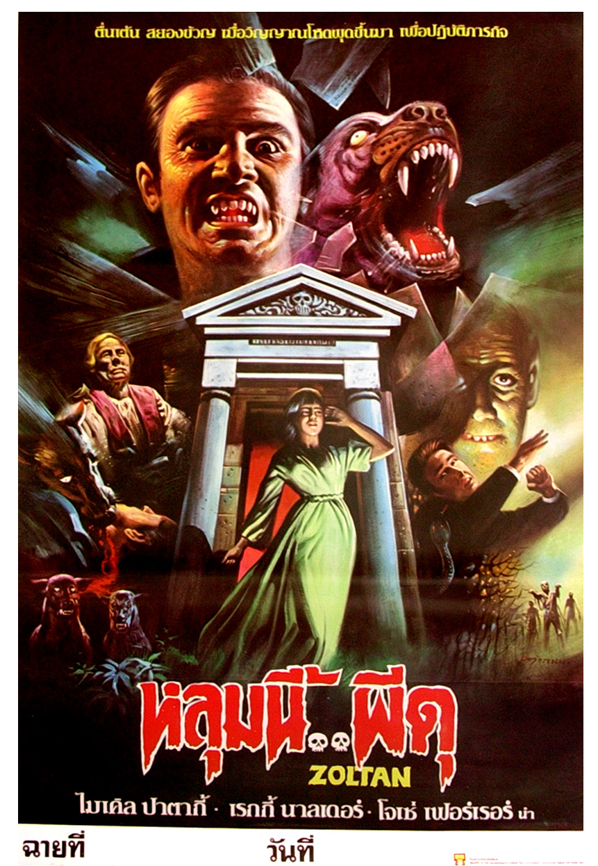 Zoltan, Hound of Dracula, 1978 (Thai Film Poster)