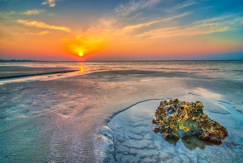 ocean sea color reflection beach water rock sunrise river sand colorful stream oysters sullivansisland