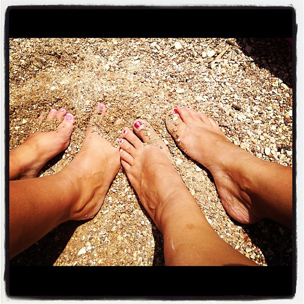Feet in the sand. Life. Is. Good.