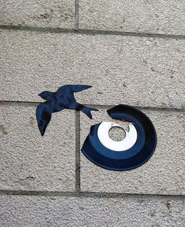 Vinyl installation by Kesa [Lyon, France]