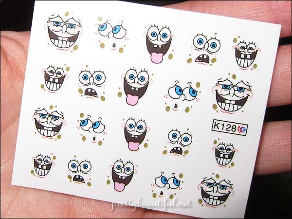 Spongebob Squarepants Nail Art Sticker