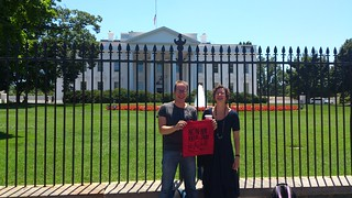 'No ACTA' bags at the White House