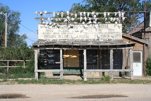 Cool storefront in the town of Scenic, SD