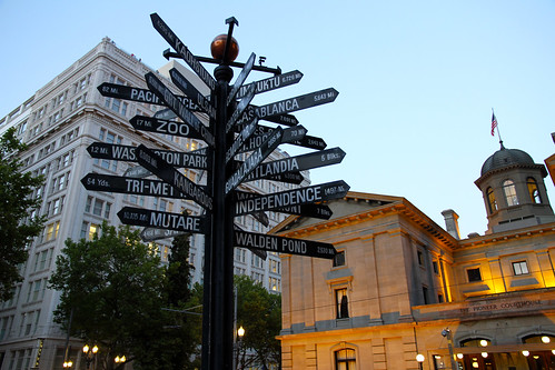 Signpost, The Nines, Pioneer Courthouse