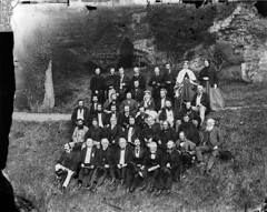 A group in Rhuthin castle during the eisteddfod (1868)