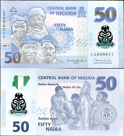 50 Naira Nigéria 2011, polymer