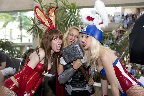 Otakon 2012 - Bunny Avengers and Thor