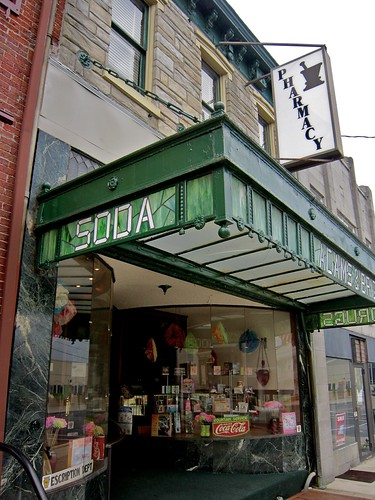 Adams & Bright Pharmacy and Soda Fountain Stained Glass