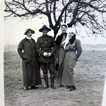 Sister Davies (left) but others in the photo, and location, unidentified. Lemnos?
