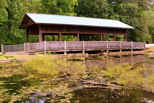 David Crockett State Park Covered Bridge