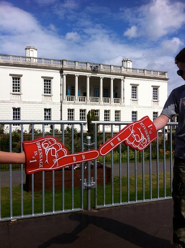...Where we attempt to recreate the Sistine Chapel using foam fingers. by MAStapleton